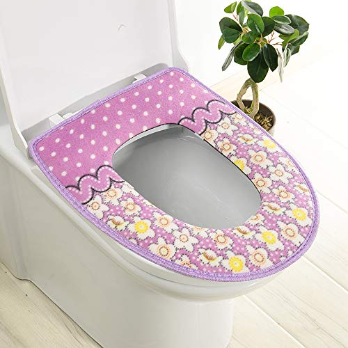 Trap-o-ring (BAOZIV587 2er-Pack WC-Sitzkissen Haushalt Toilettendeckel Aufkleber WC-Trap Wasserdicht Universal-WC-Sitzauflage Sommer, Lila Pastellkleber)