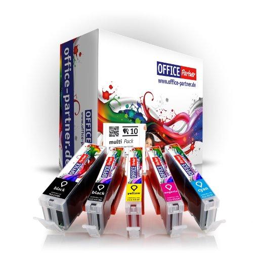 Preisvergleich Produktbild Multipack - 10 Tintenpatronen kompatibel zu CANON PGI-550 XL / CLI-551 XL mit CHIP - passend für CANON Pixma IX6850 MG7550 MG7150 MG6650 MG6450 MG6350 MG5650 MG5655 MG5550 MG5450s MG5400 MG5450 IP7250 IP8750 MX725 MX925