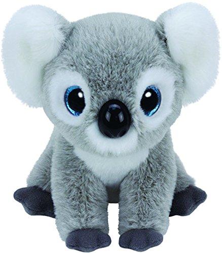 carletto-ty-42128-kookoo-mit-glitzeraugen-beanie-babies-koala-15-cm-grau
