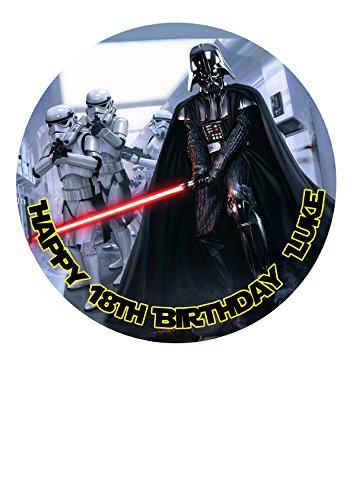 Star Wars Décoration sur papier de sucre glace Star Wars personnalisable mesurant 19,1 cm image m5