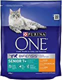 Purina ONE Bifensis Senior 7+ Rich in Chicken and Whole Grains, 800 g - Pack of 4
