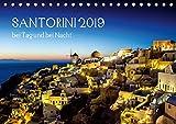 Santorini bei Tag und bei Nacht (Tischkalender 2019 DIN A5 quer): Santorini 2015 (Monatskalender, 14 Seiten ) (CALVENDO Orte)