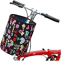 Cesta de bicicleta delantera plegable cesta de la cesta de vegetales multi función portátil