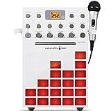Singing Machine SML388W Karaoke Machine with Music Synchronizing Light Show (White)