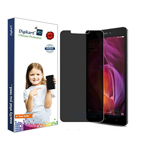 Digikart Mobile Screen Protector Privacy Tempered Glass for Redmi Note 4