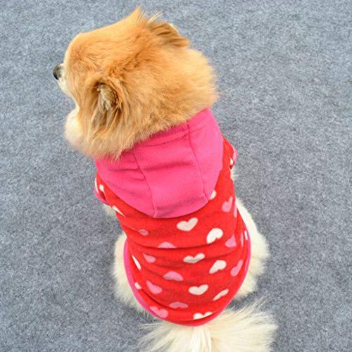 Malloom Netter Mode Haustier Welpen Katze Warmer Pullover Strickjacke Strickwaren Mantel Kleid Kleidung Sweatershirt Winter warme Flanell Kleiner Hund ()