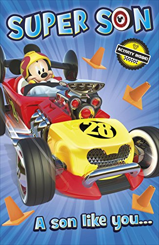 Image of Mickey Mouse And The Roadster Racers Super Son Birthday Card