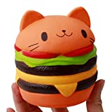 VWH Jumbo Cat Squishy Slow Rising Squeeze Toy Cream Scented Relief Anxiety Stress Decompression Squeeze Toy Home Décor Props (orange)