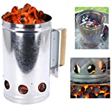 Barbecue BBQ Chimney Starter for Charcoal Briquettes Lighter