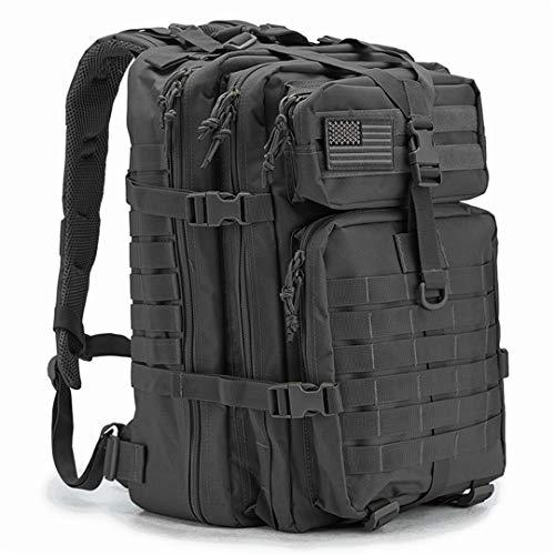 34L Militärrucksack Assault Pack Armee mit großer Kapazität und wasserdichter Bug-Out-Tasche Multifunktionstasche Black (Rucksack Schweizer Armee Wasserdicht)