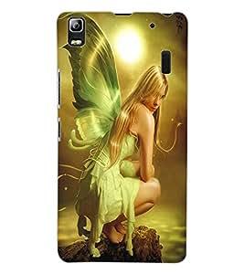 ColourCraft Lovely Angel Design Back Case Cover for LENOVO A7000 TURBO
