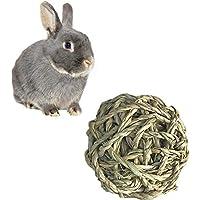 Mackur Pelota de Ratán para Mascotas, Juguete de Masticar para Conejos, Bares, Hámsters y Gatos, 1 Unidad