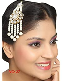 Rich Lady Classic Floral Design Work Pearl Stone Gold Finishing For Party Wear