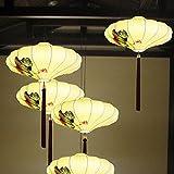 H-M-STUDIO Wandlampe E27 Chinesische Laterne, Kronleuchter Im Chinesischen Stil, Antike Lampen Und Laternen, Spezielle Restaurantlichter, Esszimmerlampen, Teehauslampen, Klassische Laternenlampen, Durchmesser 50Cm