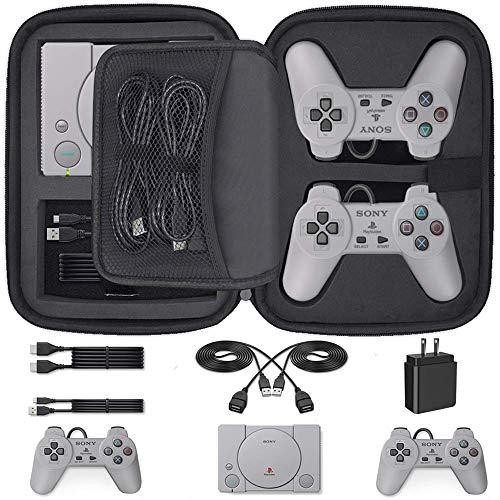 Custodia per PlayStation Classic, Custodia di Trasporto Case per Console Sony PlayStation Classic, Adatto Anche per 2 Controller, cavo HDMI e altri accessori (2018)