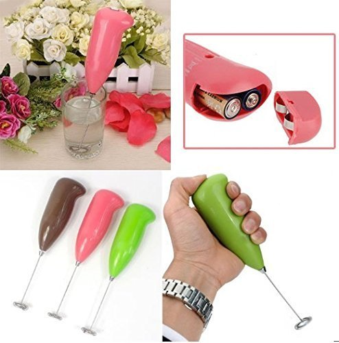 CelebrationGift Hongxin Electric Milk Frother Handheld Milk Wand Mixer Frother...