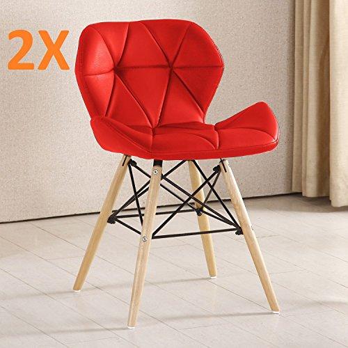 Juego de 2 sillas de estilo retro P&N Homewares de plástico inspirada...