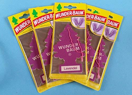 5 x original Wunderbaum Lufterfrischer (Lavendel)