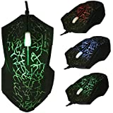 T-Mack 2018 Computer Office To Be Entered 3 Professional Upgrade X9 LED Optical 5000DPI USB Wired Game Gaming Mouse For PC Computer Laptop Home Office Use 4000DPI