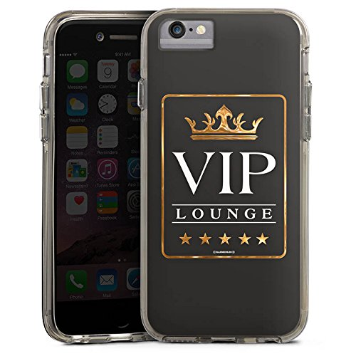 Apple iPhone X Bumper Hülle Bumper Case Glitzer Hülle Vip Lounge V.I.P Luxus Bumper Case transparent grau