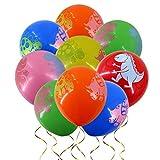 Amosfun 100 Dinosaurier-Luftballons aus Latex, Party-Luftballons für Kinder, Jungen, Geburtstag, Babyparty, Dinosaurier, Party-Zubehör 30,5 cm (zufällige Farbe)
