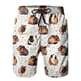Guinea Pigs Men's Swim Trunks Quick Dry Beach Shorts Beach Surfing Running Swimming Swim Shorts Large