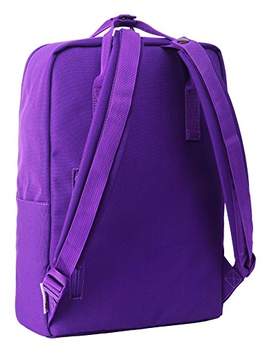 BESTIE Leicht Daypack Rucksack Reisetasche mit 15 zoll Laptopfach | 39x27x14cm | Federn, Grau D143C, Indigo