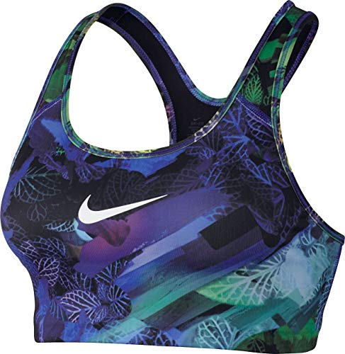 Nike Damen Classic Swoosh Hydra Sport-BH, Paramount Blue/Black/White, M