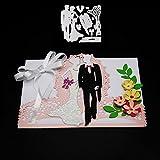 yunnuopromi Hochzeit Party Einladung Karte Formen DIY Schablonen Vorlage Prägung für Karte Scrapbooking Craft silber