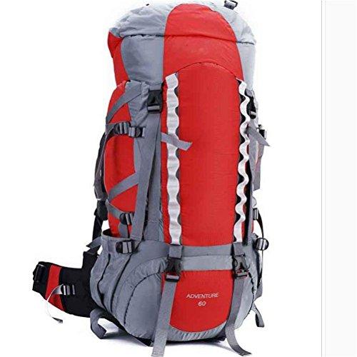 70L wasserdichte Outdoor-Sport Wandern Trekking Camping Rucksack Pack Bergsteigen Klettern Tasche für Männer / Frauen red