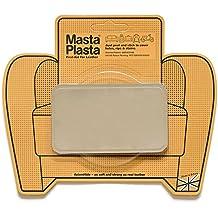 Reparador Cuero, Polipiel y Skai - Parches en Varios Colores - MastaPlasta - Rectangulo Mediano (100x60mm) (Beige)