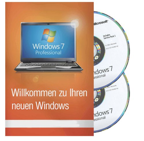Windows 7 Professional inkl SP1 32 / 64 Bit MAR Refurbished (Zertifiziert und Generalüberholt)