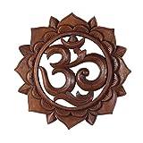 Om Símbolo,, aum 'caracteres Mandala Relief Mantra sánscrito Deva nagari Deko Soar...