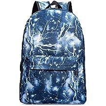 Backpack Mochilas Escolares Galaxia Mochila bolsa de Universidad y Escuela Daypack para Niños y Niñas Adolescentes Fuera Camping Picnic Deporte - Azul