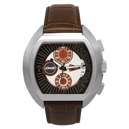 Dolce Gabbana - DW0213 - Montre Homme - Quartz Analogique - Chronographe - Bracelet Cuir Noir