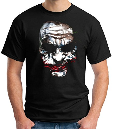 35mm - Camiseta Hombre - Joker Batman The Dark Night - T-Shirt, Negra, M