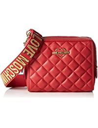 Love Moschino - Borsa Nappa Pu Trapuntata Rosso, Shoppers y bolsos de hombro Mujer, Rot (Red), 15x20x7 cm (W x H D)