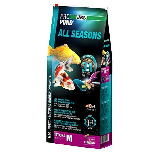 JBL 4125800 toutes saisons Doublure Koi, nourriture flottante Sticks, saison doublure, propondall Seasons, taille M, 5800 G