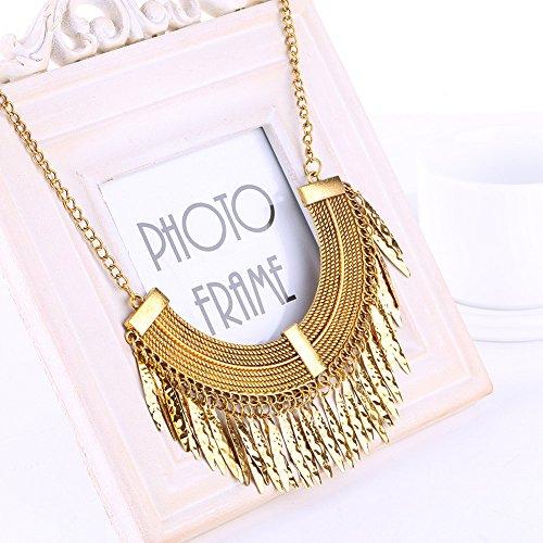 sypure (TM) Oro Argento Grigio 3colori nappa collana Collier da donna di alta qualità Vintage Ciondolo Collana Dichiarazione Chokers 14K Gold