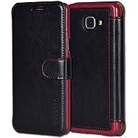 Coque Galaxy A5 2016,Mulbess [Card Slot Vintage Series] Housse Etui en cuir Avec Wallet UltraSlim pour Samsung Galaxy A5 Color Noir [Flip Case Cover]