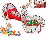 Indoor / Outdoor Spiel-Tunnel und Spiel-Zelt Cubby-Rohr-Teepee 3 in 1 Spielplatz für Kinder Baby-Kind-Spielzeug
