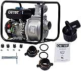 DeTec... 3 Zoll Benzin Pumpe Gartenpumpe Wasserpumpe Schmutzwasserpumpe DT-LBB80 mit 6,5 PS Motor 60.000 Liter Förderleistung/Stunde
