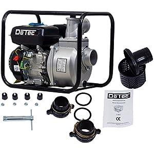 detec. Gasolina Bomba de agua DT de caudal lbb80con motor de 6,5CV 60.000l/hora Max. 28metros altura de extracción Incluye Accesorios