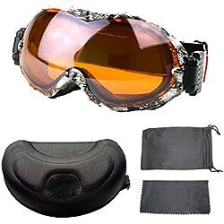 Gafas De Esquí De Camuflaje TZQ Gris Gafas Antifog De Moda A Prueba De Viento A Prueba De Viento,Multi-colored