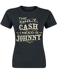 Johnny Cash The Only Cash Girls Shirt Black