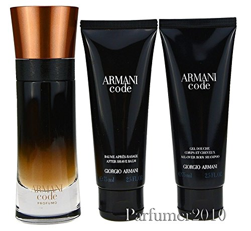 Giorgio Armani Code Profumo Pour Homme 60ml EDP Parfum Spray + 75ml Duschgel + 75ml After Shave Balm