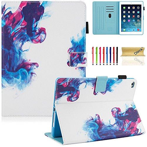 Dteck Neue iPad 2018 2017 9.7 Hülle, iPad Air 1 2 Cover Case, Mehrfachsansicht Auto Schlaf/Wach Smart Cover Geldtasche Schutzhülle für Apple iPad 5th 6th Gen 9.7 Zoll, iPad Air - Generation Cases Blumen Ipad 2.