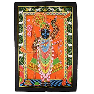 Artncraft Sequin Work Shrinathji Shreenathji Cloth Painting 30