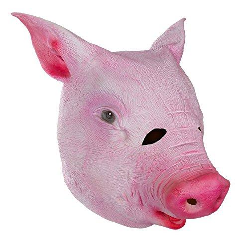 Queenshiny® Latex Tiermaske Halloween-Party-Kostüm (Schwein)