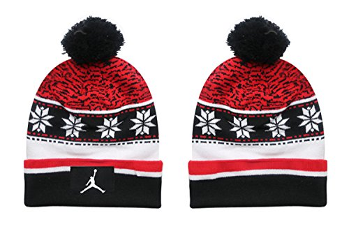 Jordan Beanies hats Unisex Fashion Cool Snapback Baseball Cap Red 1 One Size